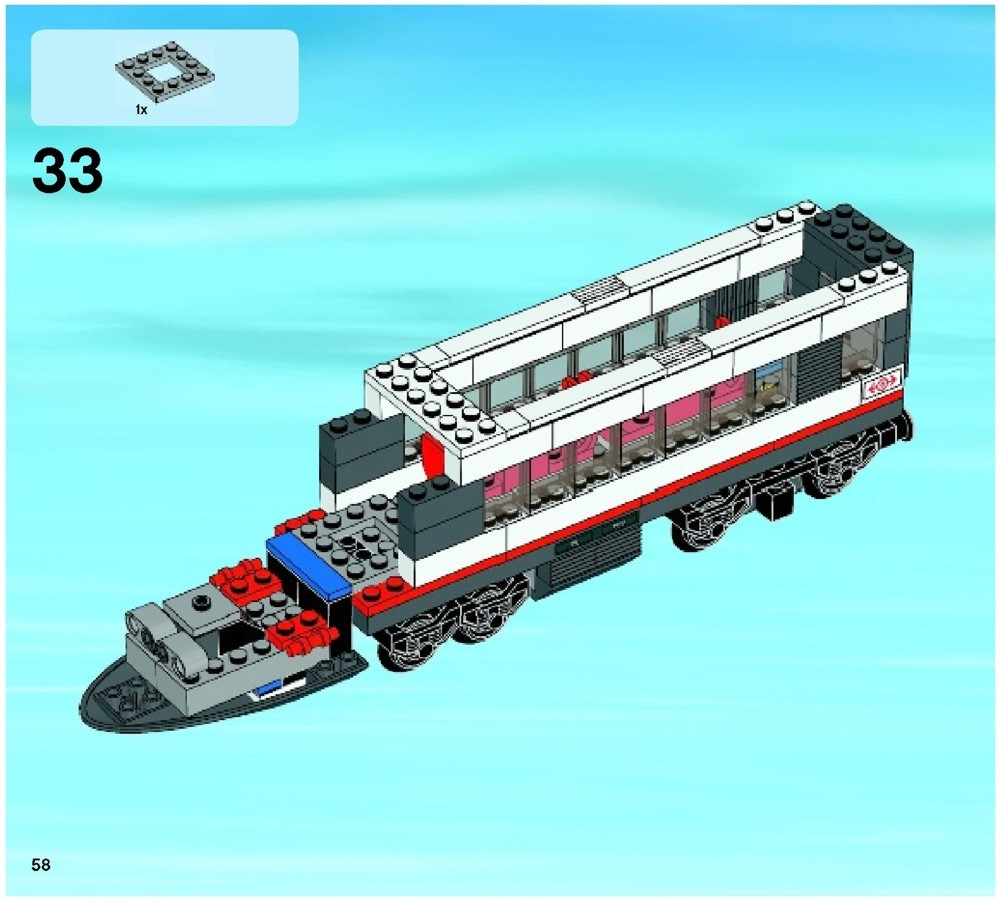 lego high speed passenger train instructions