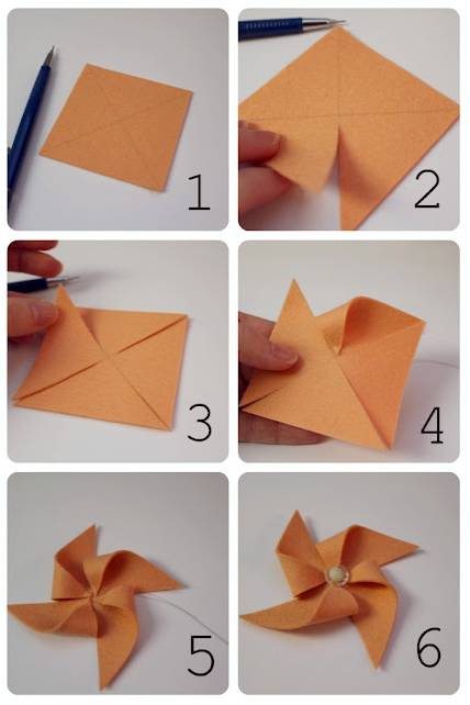 origami pinwheel printable instructions
