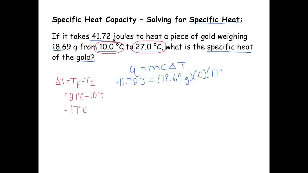Specific heat equation how to find q