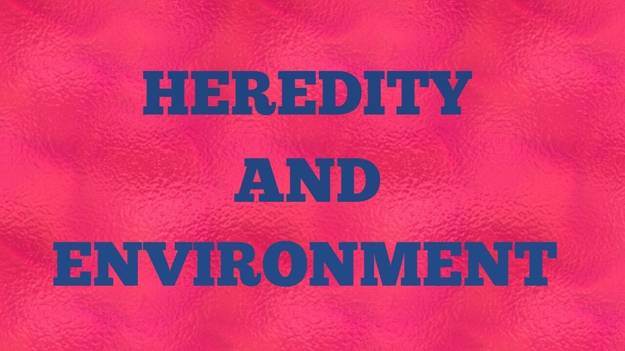 Influence of heredity and environment on child development pdf